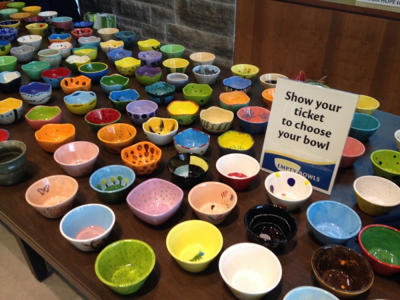 Opencity Inc Ethos Annual Empty Bowls fundraising event for Milton Transitional Housing