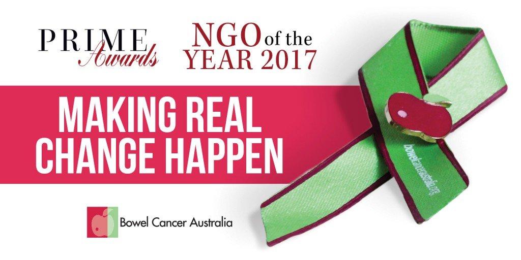 Bowel Cancer Australia, Prime Awards, NGO of the Year 2017