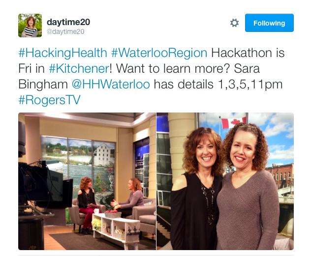 Hackathon, Hacking Health, Sara Bingham,