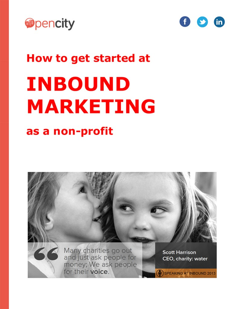 How to get started at Inbound Marketing as a non profit eBook