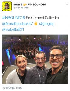 #INBOUND16, selfie