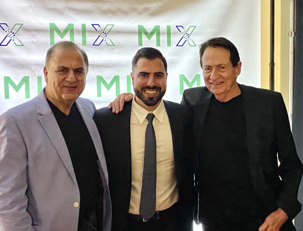 Intellijoint Surgical inspiration Dr. Bedros Bakirtzian and Dr. Allan Gross flank co-founder Armen Bakirtzian at the MIX opening