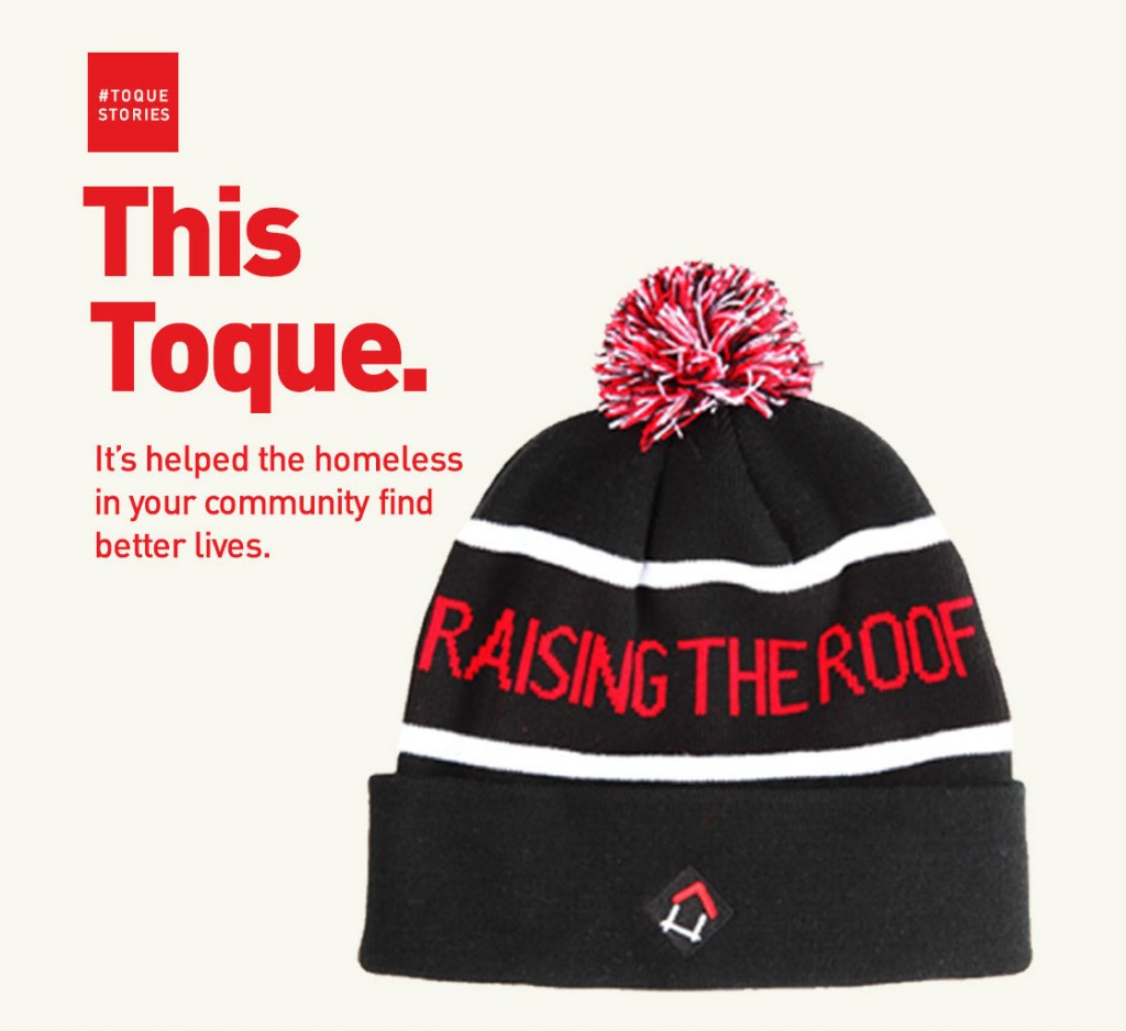 Raising the Roof, Opencity Inc., Charity Spotlight, Toque, homeless, Toronto