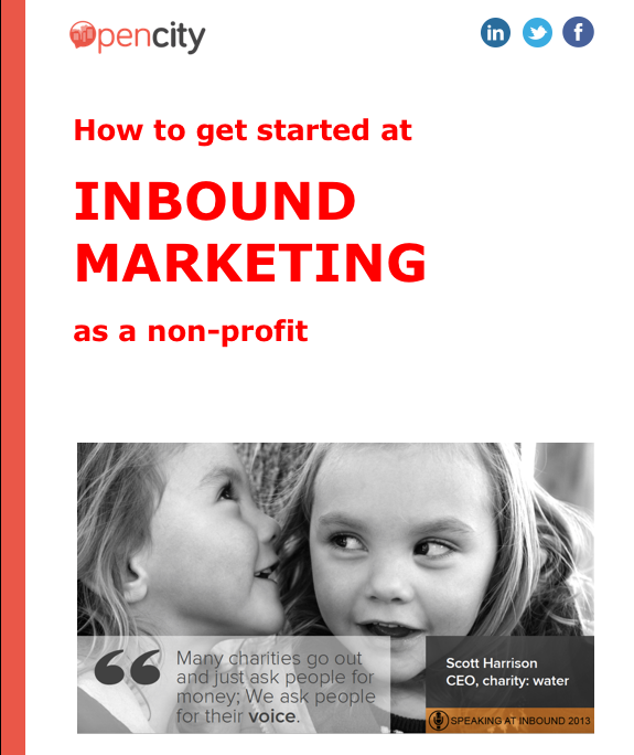 Inbound Marketing introduction, non-profits, charities, inbound marketing, Opencity Inc.,
