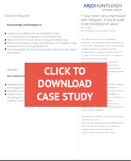 Opencity Inc., Netigate, ArjoHuntleigh Getinge Group, case study, customer satisfaction