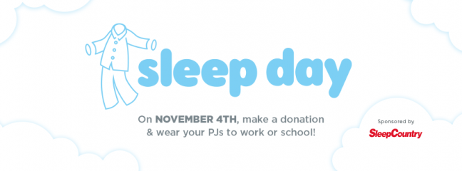 Sleep Day, SCAW, Charity Spotlight