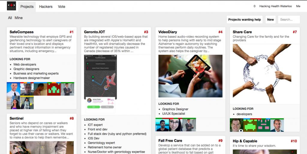 Sparkboard, commercialisation, Hacking Health, Hackathon