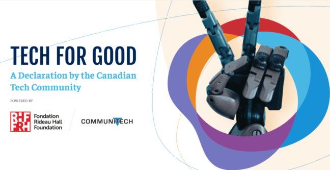 Tech for Good Declaration, Communitech, Rideau Hall Foundation