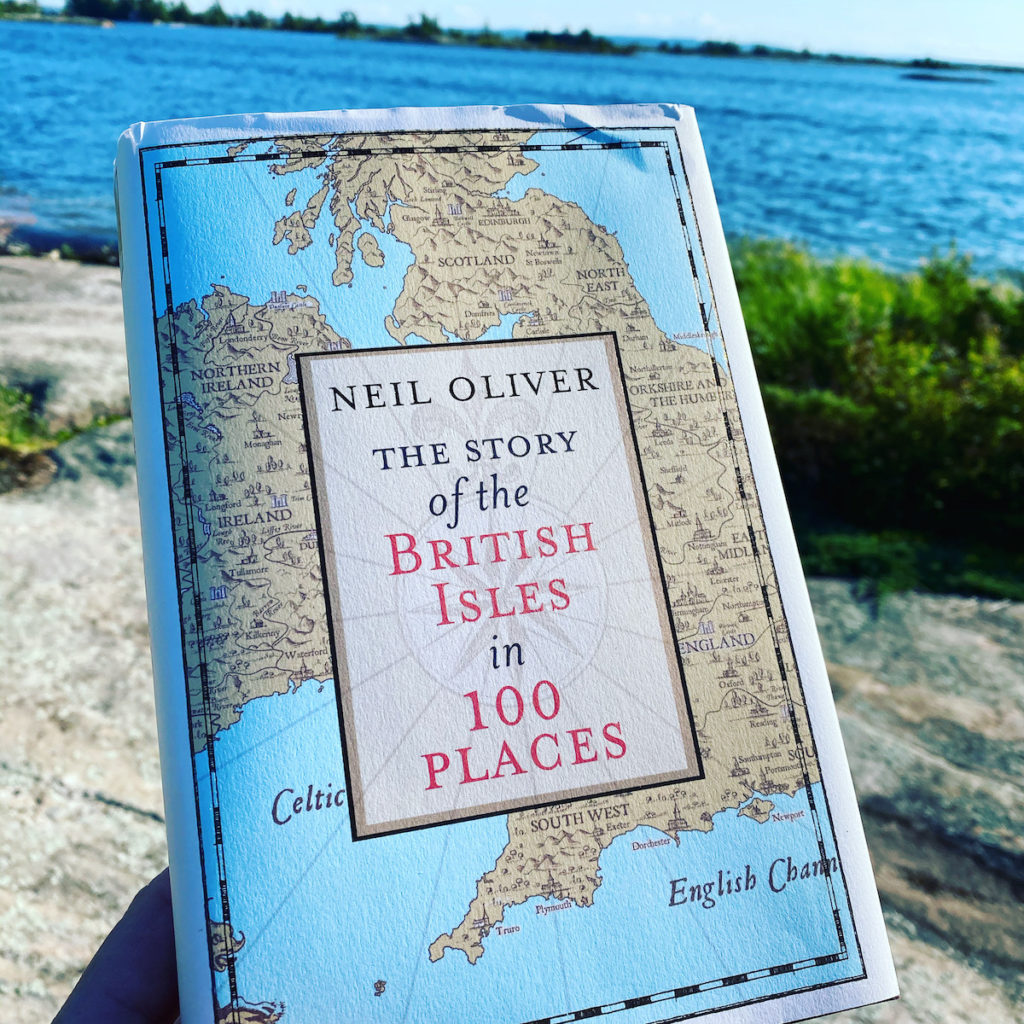 Picture of the book by Neil Oliver The Story of the British Isles in 100 places part of the OpencityInc 9 books that made a positive difference in 2020