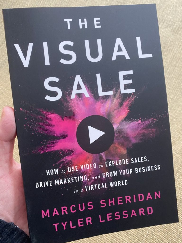 Picture of the book by Marcus Sheridan and Tyler Lessard on The Visual Sale, part of the OpencityInc 9 books that made a positive difference in 2020