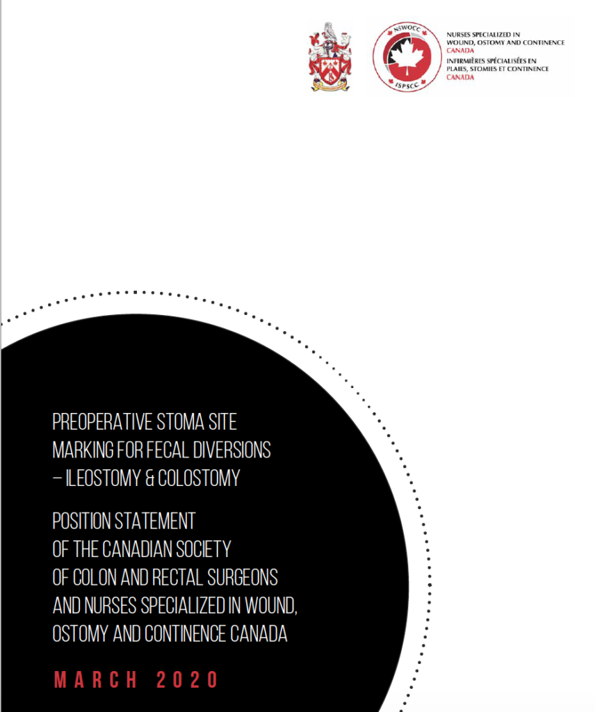 Preoperative stoma site marking position statement - Canada - case study